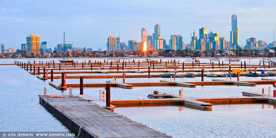 Australia Stock Photography Melbourne From St Kilda Beach Vic